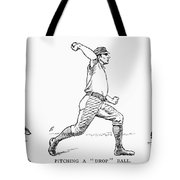 Baseball Pitching, 1889 Tote Bag