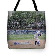 Baseball Playing Hard Digital Art Tote Bag
