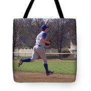 Baseball Step And Throw From Third Base Tote Bag