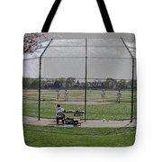 Baseball Warm Ups Digital Art Tote Bag