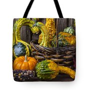 Basket Full Of Gourds Tote Bag