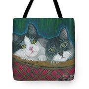 Basket Of Kitties Tote Bag