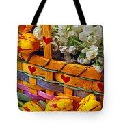 Basket Of Spring Flowers Tote Bag