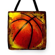 Basketball Abstract Tote Bag by David G Paul