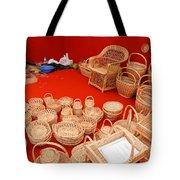 Basketwork Tote Bag