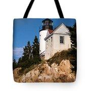 Bass Harbor Light Acadia National Park Maine Tote Bag