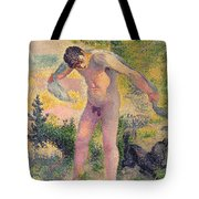 Bather Drying Himself At St Tropez Tote Bag
