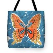 Batik Butterfly Tote Bag