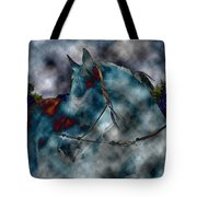 Battle Cloud - Horse Of War Tote Bag