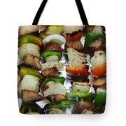 Bbq Grilled Vegetables Tote Bag