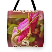 Be My Valentine Greeting Card - Rosebud Tote Bag