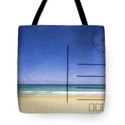 Beach And Blue Sky On Postcard  Tote Bag by Setsiri Silapasuwanchai