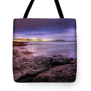 Beach At Dusk Tote Bag by Carlos Caetano