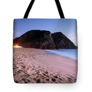 Beach At Evening Tote Bag by Carlos Caetano
