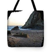 Beach Cave At Bandon Oregon Tote Bag