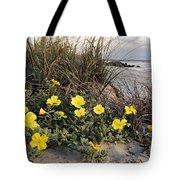 Beach Evening Primrose On Folly Beach - D001782 Tote Bag