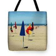 Beach In Deauville Tote Bag