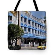 Beach Paradise Hotel Tote Bag