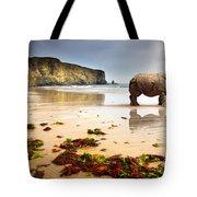 Beach Rhino Tote Bag