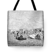 Beach Scene, 19th Century Tote Bag