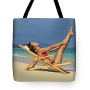 Beach Stretches Tote Bag
