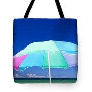 Beach Umbrella At The Shore Tote Bag