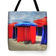 Beach Umbrellas Nice France Tote Bag