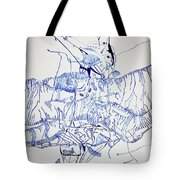 Beach Volleyball Tote Bag