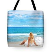 Beach Woman Tote Bag