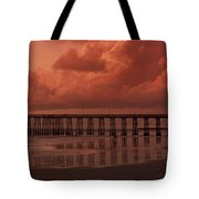 Beachcombing At Oceanside Pier Tote Bag