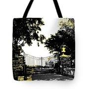 Beacon Rock Gate Newport Ri Tote Bag