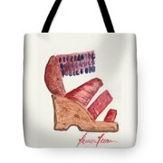 Beaded Sandal Tote Bag