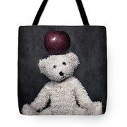 Bear And Apple Tote Bag