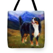 Bear - Bernese Mountain Dog Tote Bag by Michelle Wrighton