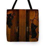 Bear Doors Carved Tote Bag
