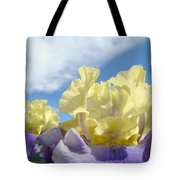 Bearded Iris Flowers Art Prints Floral Irises Tote Bag