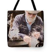 Bearded Miner Making Billy Tea Tote Bag