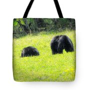 Bears In A Peaceful Meadow1 Tote Bag