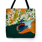 Beautiful Butterfly On A Gold Tote Bag