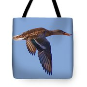 Beautiful Duck Flying Tote Bag