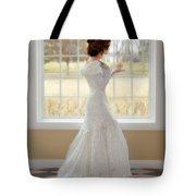 Beautiful Lady By Window Tote Bag