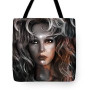 Surreal Female Fashion Mannequin Portrait Art Deco Tote Bag