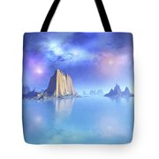 Beautiful Night Scene Of The Ocean Tote Bag