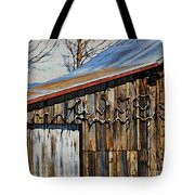 Beautiful Old Barn With Horns Tote Bag