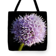 Beautiful Purple Flower With Black Background Tote Bag