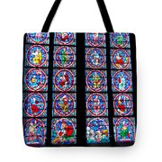 Beautiful Stained Glass At Notre Dame Cathedral Tote Bag