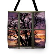 Beautiful Sunset Bay Window View Tote Bag