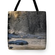 Beautiful View Of A Stream Finding Tote Bag
