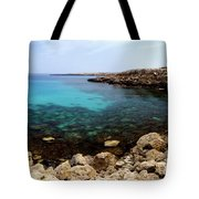 Beautiful View On Mediterranean Sea Cape Gkreko In Cyprus Tote Bag