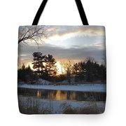 Beautiful Winter Dawn Tote Bag